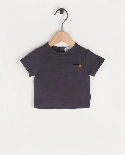 T-shirt gris foncé en matière tétra