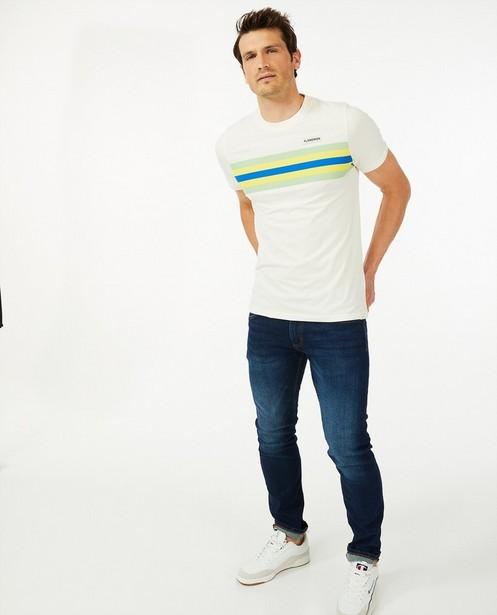 Biokatoenen T-shirt Baptiste - Flandrien - met strepen - Baptiste