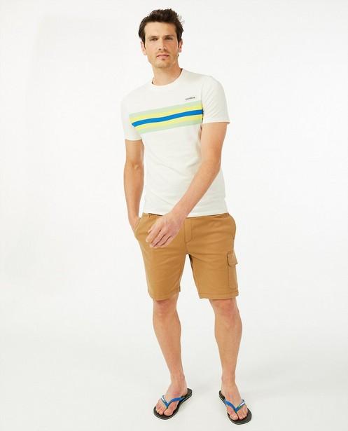 Biokatoenen T-shirt Baptiste - coureur - met strepen - Baptiste
