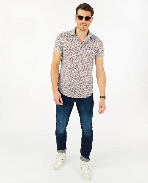 Chemise blanche à imprimé - manches courtes - Iveo