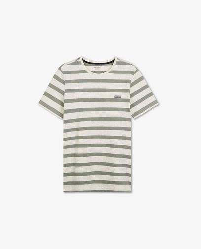 Offwhite T-shirt met strepen