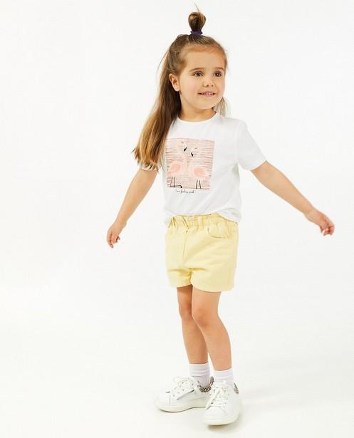 Gele jeansshort - met elastische taille - Milla Star
