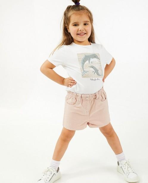 Roze jeansshort - met elastische taille - Milla Star