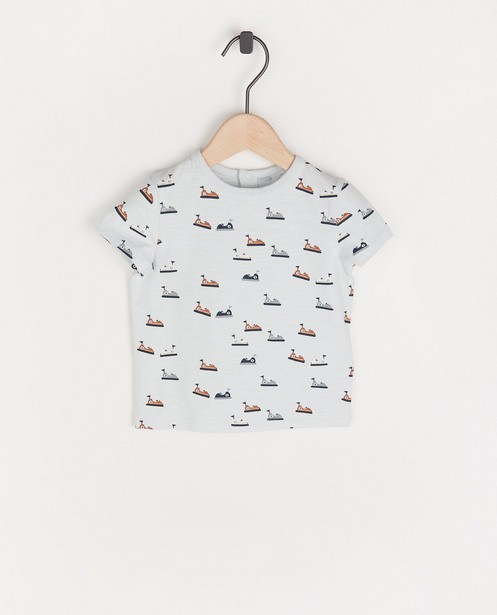 Biokatoenen T-shirt met print - allover - Cuddles and Smiles