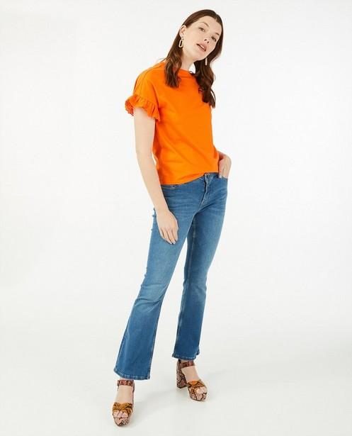 T-shirt met broderie anglaise Sora - van biokatoen - Sora