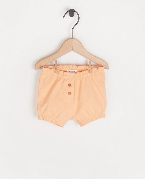 Short orange à petits boutons - et fronces - Newborn