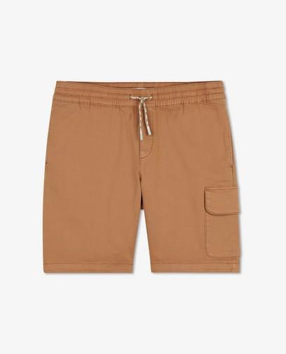 Bermuda brun à taille élastique