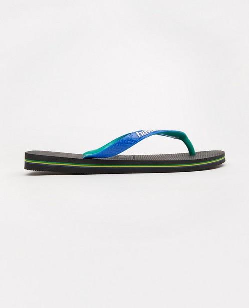 Havaianas slippers, maat 39-46 - zwart met blauw - Havaianas