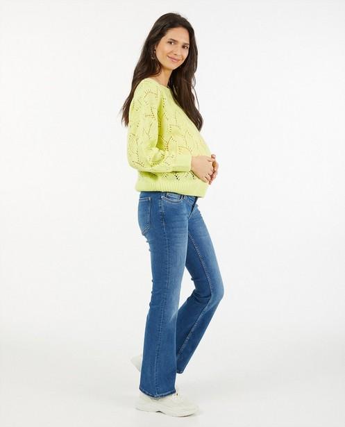 Trui met ajourpatroon JoliRonde - zwangerschap - Joli Ronde