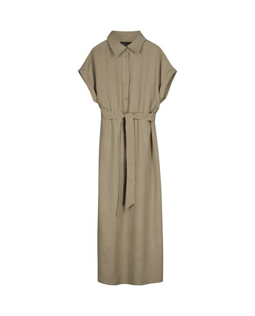 Kakigroene jurk JoliRonde - effen - Joli Ronde