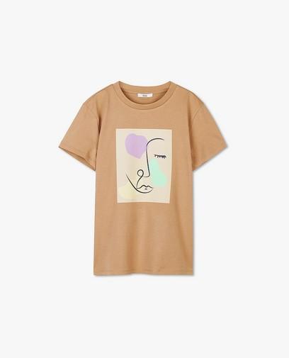 Biokatoenen T-shirt met print Sora