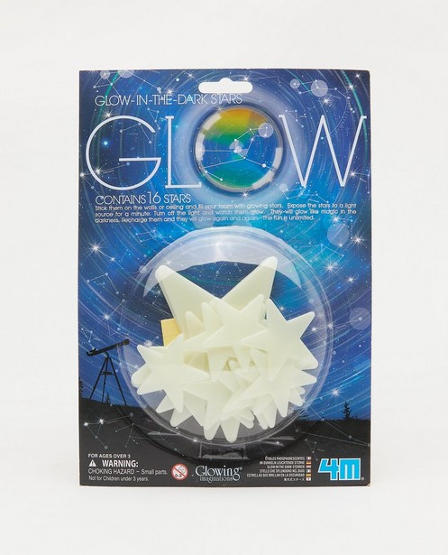 Lot de 16 étoiles glow in the dark - 4M - none