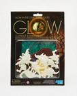 Set van 8 3D glow in the dark dino's - met achtergrond - none