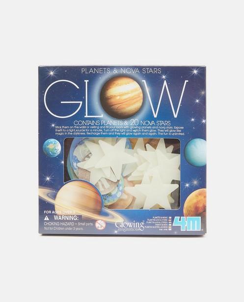 Glow in the dark sterren en planeten - 4M - none