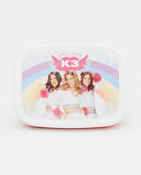 Roze boterhamdoos met print K3 - met verdeler - K3