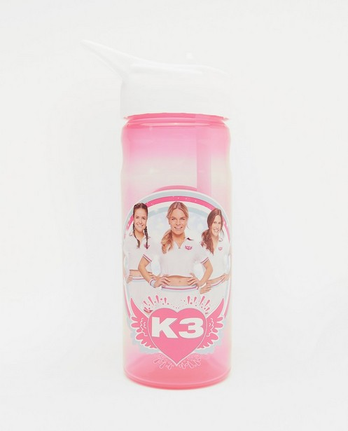 Roze drinkbus met print K3 (500ml) - met witte dop - K3
