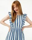 Katoenen jurk met strepen Pieces - blauw-wit - Pieces