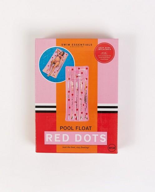 Matelas pneumatique à paillettes - rose à pois rouges - Swes