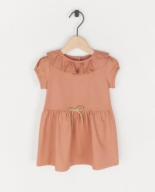 Roze jurk met gouden strepen Feest - van biokatoen - Cuddles and Smiles