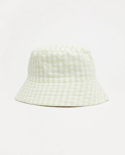 Chapeau blanc-vert Atelier Bossier, enfants