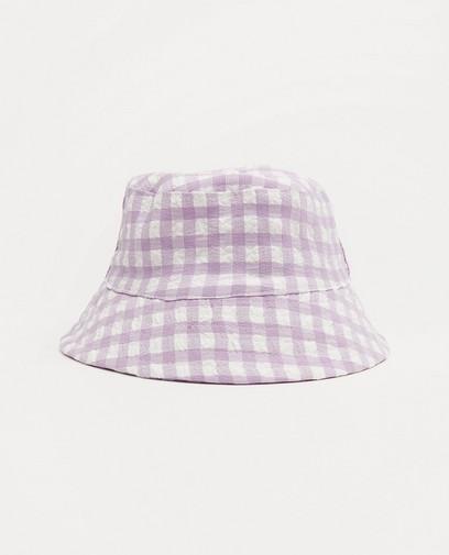 Chapeau lilas-blanc à carreaux Atelier Bossier, bébés