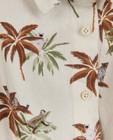 Kleedjes - Linnen jurk met tropische print