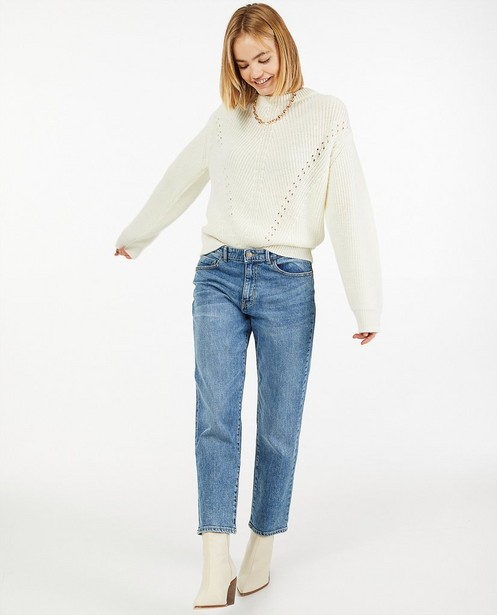 Pull en tricot à motif ajouré - uni - Ella Italia
