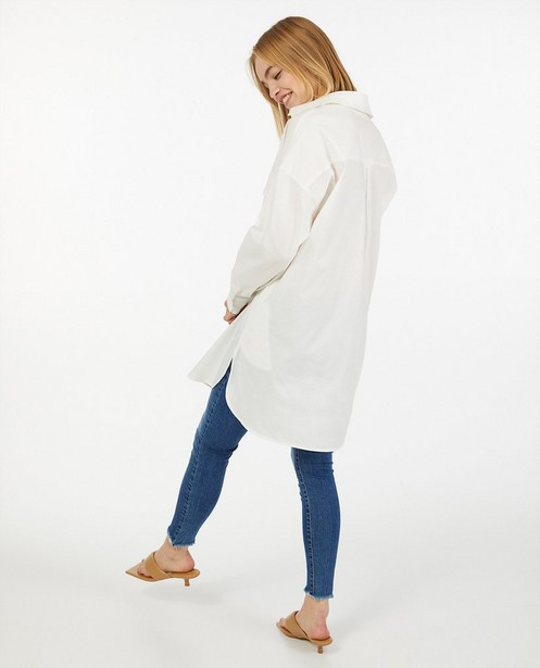 Chemisier oversized blanc Ella Italia - avec poche de poitrine - Ella Italia