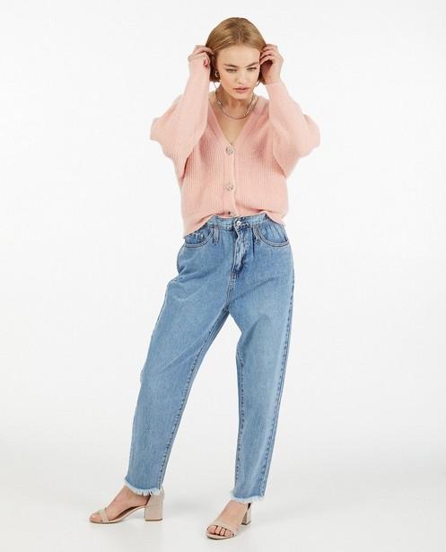 Blauwe slouchy jeans Ella Italia - met paperbag waist - Ella Italia