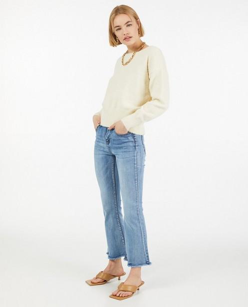 Blauwe jeans met rafels Ella Italia - stretch - Ella Italia