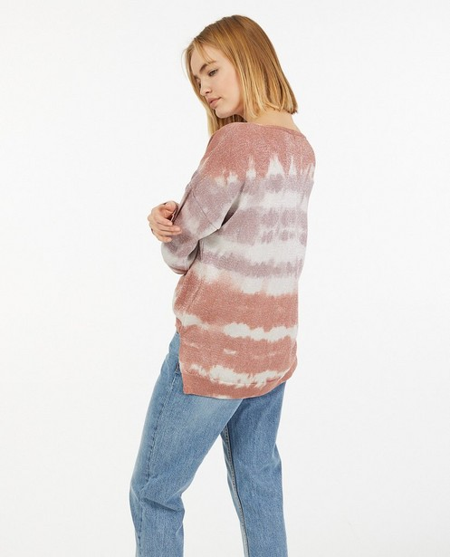 Pull tie dye à paillettes Ella Italia - fin tricot - Ella Italia