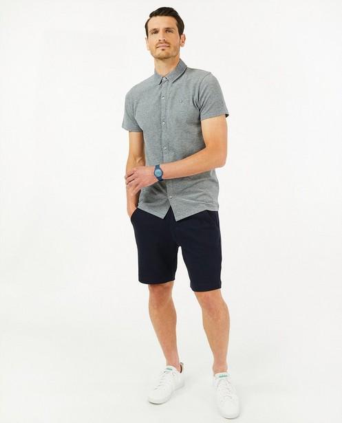 Biokatoenen hemd met reliëf - met korte mouwen - Quarterback