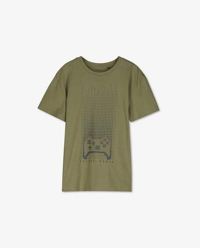 Kakigroen T-shirt met print BESTies