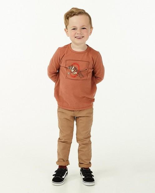 Chino brun, 2-8 ans - avec du stretch - Kidz Nation