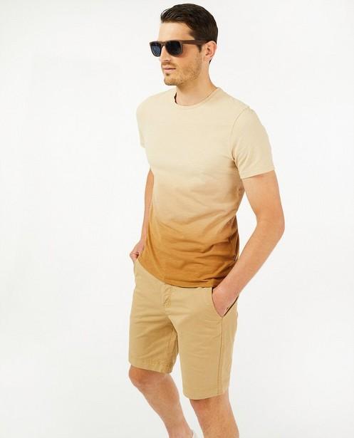 Biokatoenen T-shirt met gradiënt - slim fit - Quarterback