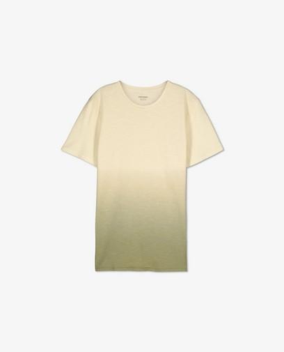 T-shirt en coton bio avec un dégradé