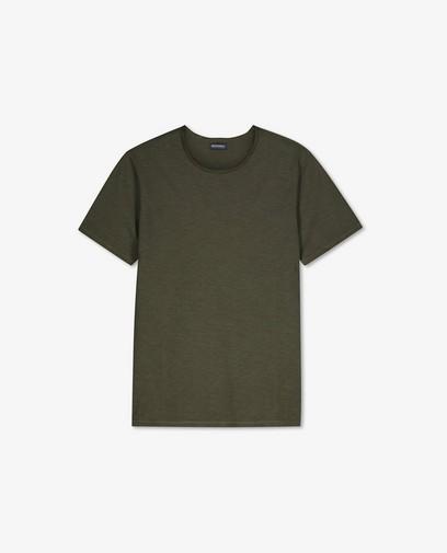 Biokatoenen T-shirt in groen