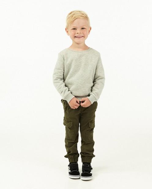 Pantalon cargo vert foncé, 2-7 ans - avec des smocks - Kidz Nation