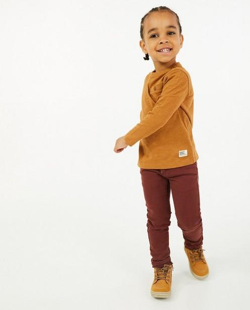 Skinny Joey en sweat denim, 2-8 ans - brun rouge - Kidz Nation