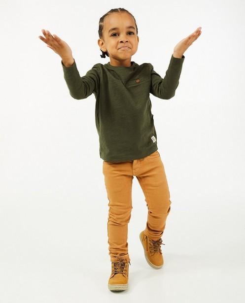 Skinny Joey en sweat denim, 2-8 ans - brun - Kidz Nation