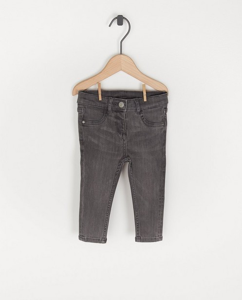 Donkergrijze jeansbroek voor baby's - stretch - Cuddles and Smiles