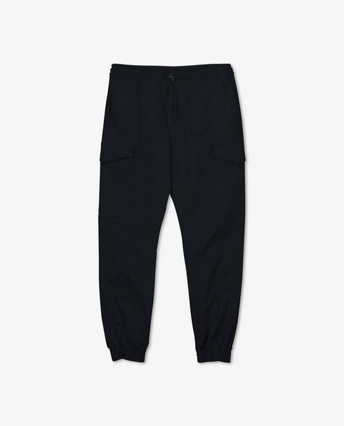 Pantalon cargo bleu en coton bio - avec du stretch - Iveo