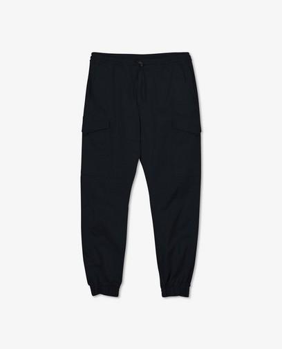 Pantalon cargo bleu en coton bio