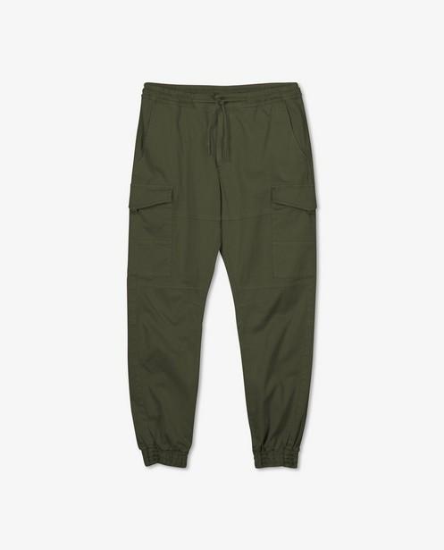 Pantalon cargo kaki en coton bio - avec du stretch - Iveo