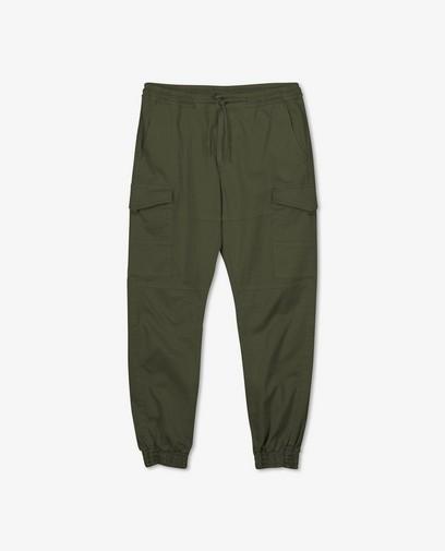 Pantalon cargo kaki en coton bio