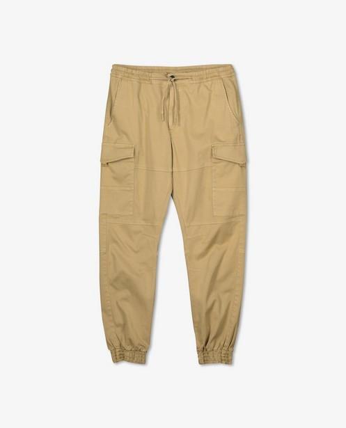Pantalon cargo brun en coton bio - avec du stretch - Iveo