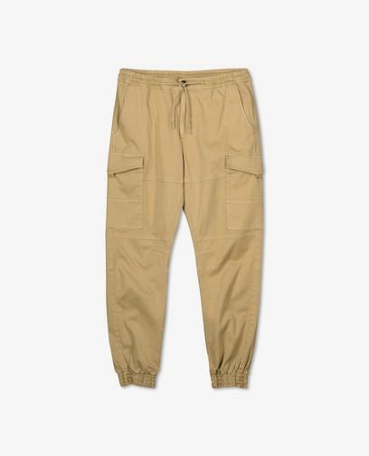 Pantalon cargo brun en coton bio