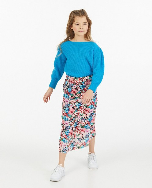 Pull bleu Amy-Rose, 7-14 ans - fin tricot - Amy-Rose