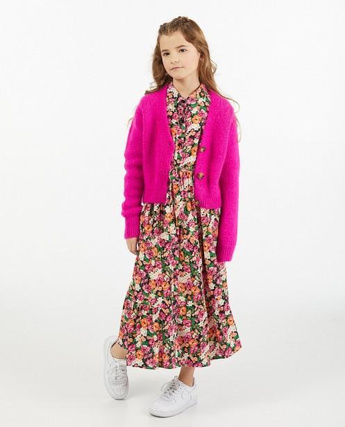 Cardigan fuchsia Amy-Rose, 7-14 ans - en tricot - Amy-Rose