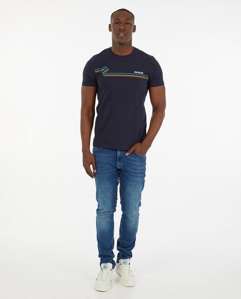 T-shirt bleu «Gelijk nen Echte», hommes - Kom op tegen Kanker - Kom op tegen Kanker